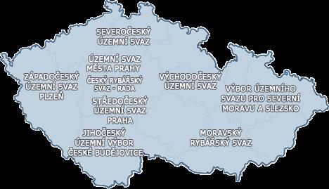 Mapa rybářských revírů